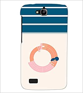 PrintDhaba GRANDbet O D-3203 Back Case Cover for HUAWEI HONOR HOLLY (Multi-Coloured)