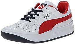 PUMA GV Special JR Classic Sneaker (Little Kid/Big Kid) , White/High Risk Red, 5 M US Big Kid