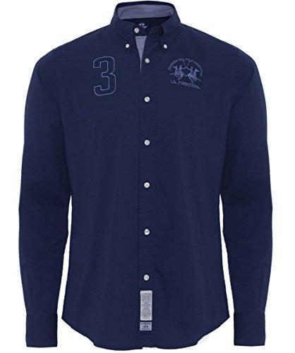 la-martina-regular-fit-manuel-cotton-shirt-navy-xl
