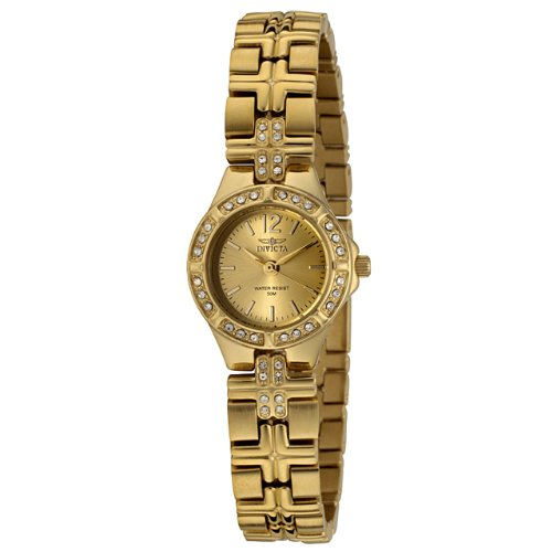 Invicta Women's 0128 Wildflower Collection Crystal Accented 18k Gold-Plated Watch
