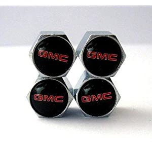 GMC Anti-theft Car Wheel Tire Valve Stem Caps