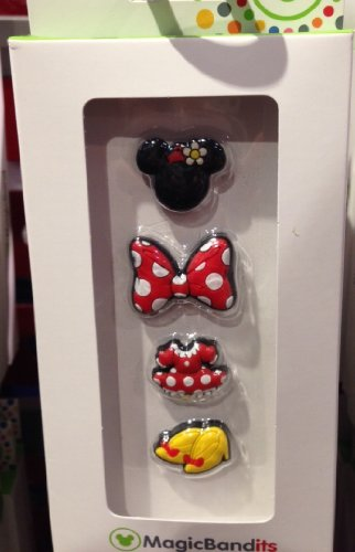 Disney Parks Minnie Mouse Body Parts Magic Band Bandits Set of 4 Charms - 1