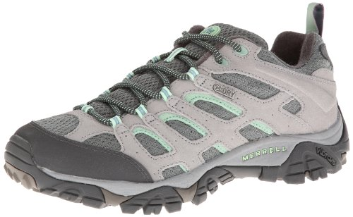 Merrell Women's Moab Waterproof Hiking Shoe,Drizzle/Mint,8.5 M US