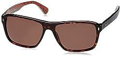 Police UV Protected Square Men's Sunglasses (S1862M58722SG 58 Brown lens)