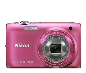 Nikon COOLPIX S3100 14 MP Digital Camera with 5x NIKKOR Wide-Angle Optical Zoom Lens and 2.7-Inch LCD (Pink)