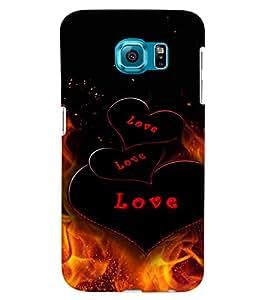 PRINTVISA Love Fire Case Cover for Samsung Galaxy S6 Edge Plus