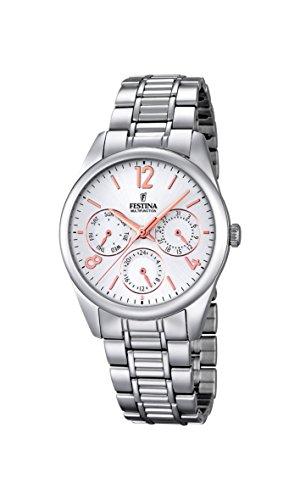 Festina F16869/1 - Reloj de pulsera Mujer, Acero inoxidable, color Plateado