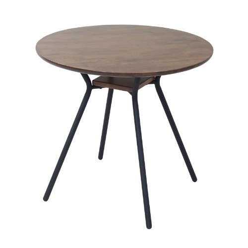 JKプラン ビンテージシリーズ カフェテーブル ブラックブラウン IRI-0033 IRI-0033-BKBR
