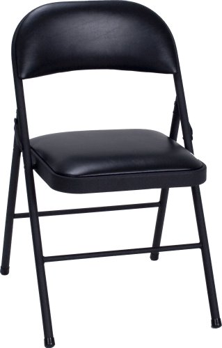 Cosco Vinyl 4-Pack Folding Chair, Black (Padded Folding Table compare prices)