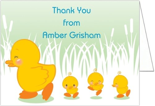 Boy Ducklings Baby Shower Thank You Cards - Set Of 20 front-991922