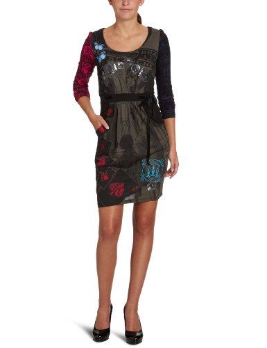088a683f670b64 Desigual Damen Kleid (knielang), 27V2884, Gr. 42 (spanische 44), Schwarz  (Negro 2000)