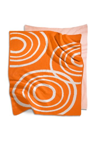 Organic Knit Blanket Color: Poppy Orange - 1