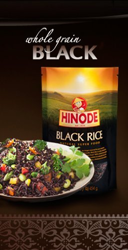 Hinode Black Rice - Natural Super Food 16 oz (1 pound) (Pack of 3) (Hinode Rice compare prices)