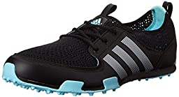 adidas Women\'s W CC Ballerina II Golf Shoe, Core Black/Silver Metallic/Clear Aqua, 9 M US