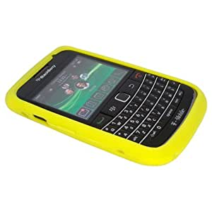 Yellow Silicone Soft Skin Case Cover for Blackberry Bold 9700, Onyx 9700, 9020, 9780