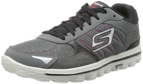 Skechers Performance Men's Go Walk 2 Flash Lace-Up Walking Charcoal/Black Sneaker 8 D US