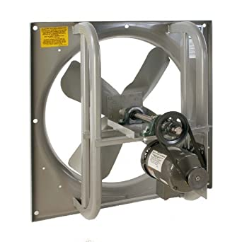 "Airmaster 42735 High Pressure Belt Drive Fan, Single Speed, Totally Enclosed, 3 Phase, 36"" Prop Diameter, 230/460V, 1-1/2HP Motor"