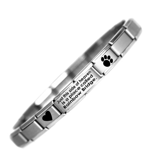 Rainbow Bridge - Pet Loss Charm Bracelet - Stainless Steel - One Size fits All - Daisy Charm by JSC Nomination Style