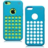 iPhone 5C Cases - iPhone 5C Soft Skin Case For The New iPhone 5C - Circle Colors - Dots Holes - Shell - Skin Cover By Cable and Case - Blue