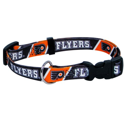 hunter-mfg-philadelphia-flyers-dog-collar-large