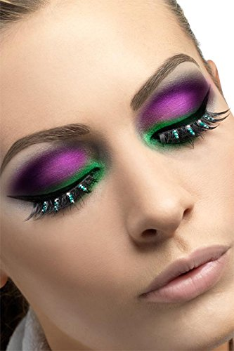 Fever Women's Eyelashes with Diamante Contains Glue In Display Box, Black, One Size - 1