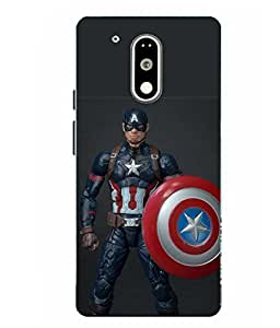 Moto G4 Play Captain America Printed Multicolor Hard Back Cover By Case Cover