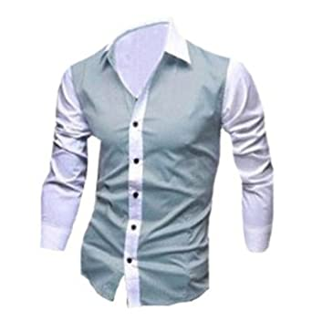 Summer men s shirts stylish color slim shirt best brand checked dress