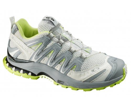 SALOMON XA Pro 3D Ultra 2 Ladies Trail Running Shoes, Grey/Green, UK4