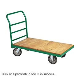 "Steel Bound Wood Platform Truck 24"" W x 36"" L Without Wheels"