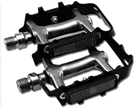 Mountain bike aluminum alloy pedals equipped with reflectors