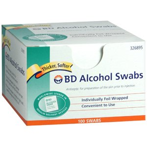 Pack Of 3 Each Swabs Bd Alcohol Disp 326895 100Bx Pt#8290326895