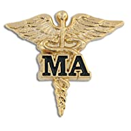 Medical Assistant MA Gold Caduceus La…
