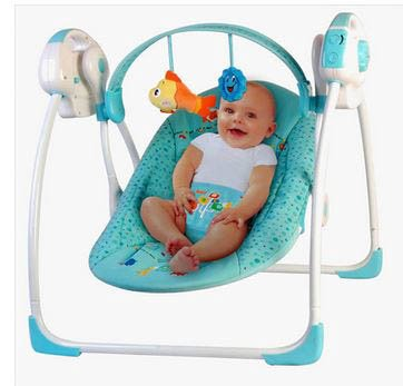 Blue Primi Baby Electric Rocking Chair Portable Swings For Babies Manufacturers Music Bouncer Toddler Swing Wave Bed