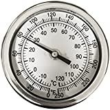 "CNS 3"" Dial Thermometer 1/2"" NPT 316 Stainless Steel"