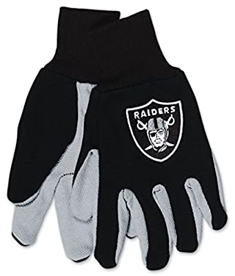 Oakland Raiders Youth Size Two Tone Gloves