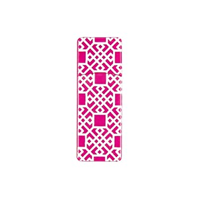 EMTEC Fashion Swivel 8 GB USB 2.0 Flash Drive, Pink Geometric