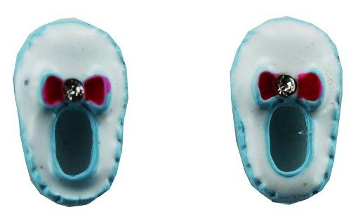Slipper Earring - Kids Fashion Earrings (Light Blue)