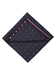 Pure Silk Polka Dot Handkerchief
