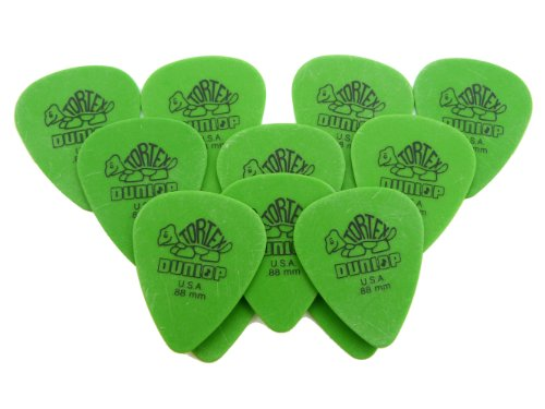 Dunlop Standard Tortex Picks, 12 Pack, Green, .88mm