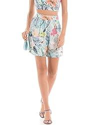 Shuffle Women's Shorts (1021615789_Blue Mix_Small)