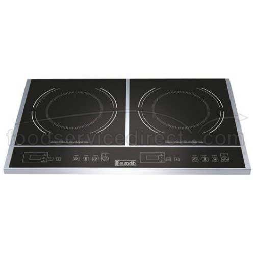 Eurodib Double Induction Cooker, 23 1/2 x 14 1/8 x 2 1/2 inch -- 1 each.