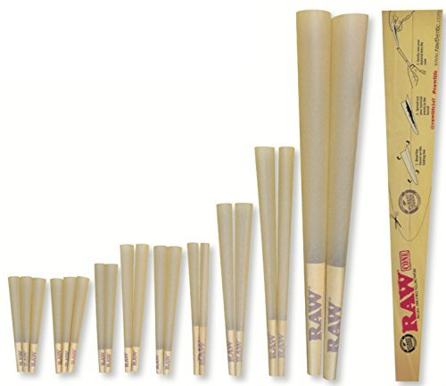 RAW Classic Natural Unrefined 20-Stage Rawket Launcher - 20 Cone Variety Pack (1 Pack) (Raw Cones Case compare prices)