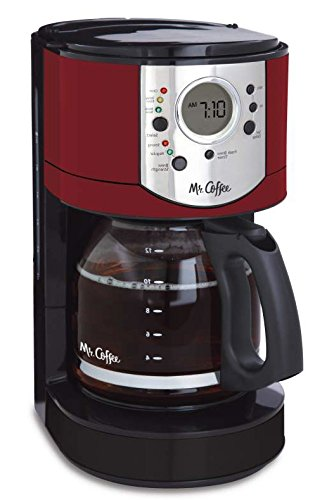 Mr. Coffee BVMC-CJX36-AM 12 Cup Programmable Coffee Brewer with Brew Strength Selector, Cjx36, , Red (Mr Coffee Espresso Filter Basket compare prices)