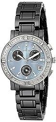 "Invicta Women's 0728 ""Ceramics Collection"" Diamond-Accented Watch with Ceramic Bracelet"
