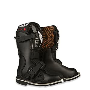 Fly Racing Maverik MX Kids Off-Road/Dirt Bike Motorcycle Boots - Black / Size 11