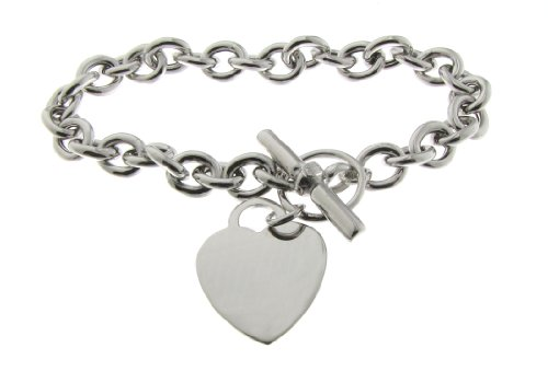 Niederlander - Silver heart bracelet T-bar - Sterling Silver - 16 gr - 20 cm