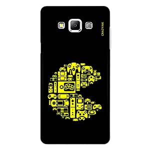 CrazyInk Premium 3D Back Cover for SAMSUNG A7 - PAC-MAN GAMING SYMBOL