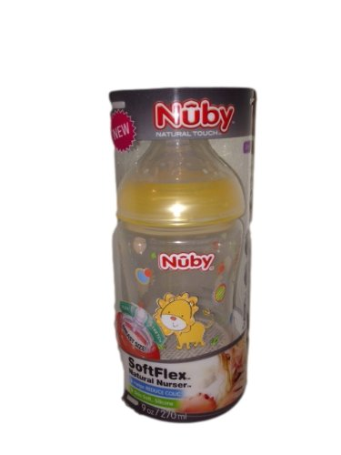 Nuby Natural Touch Soft Flex Natural Nurser (0m+ Slow Flow) 9oz/270ml - 1