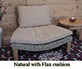419hC0Q3QLL. SL160  Seagrass Harmony Meditation Chair   Natural with Flax Cushion (Xoticbrands)