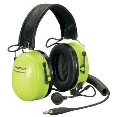 Peltor Hearing Protection - Ground Mechanic Aviation Push-Back Headsets - High Viz